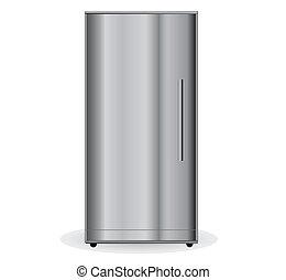 metalic, refrigerador