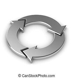 Metalic Round Arrows