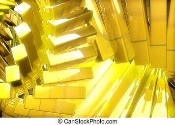 metaliczny, próbka, żółty