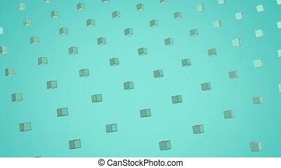 metaliczny, ruchomy, kwadraty, 3d