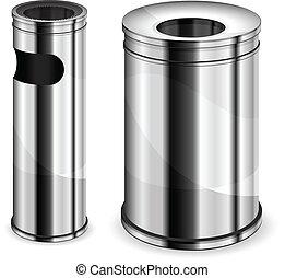 metall, abfall, behälter