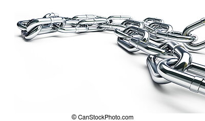 metall chain on a white background