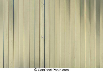 Texture of metall corrugated board. Fence from corrugated board