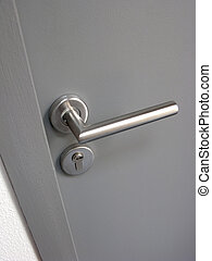metall, dörr hantera