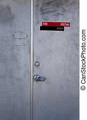 metall, dörr