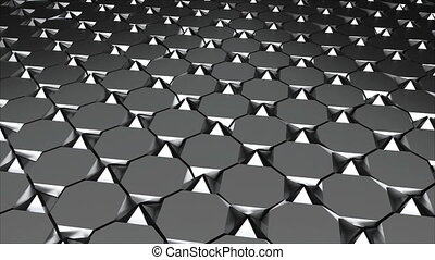 Metall floor with tiling, abstract 3d rendering, computer...