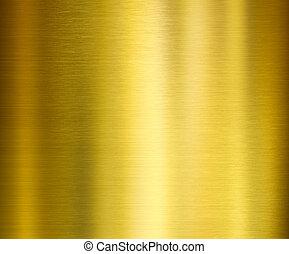 metall, gebürstet, gold, beschaffenheit
