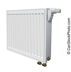 Metall radiator for panel heating of house. Vector illustration.
