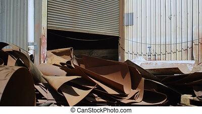 metall, scarps, in, der, junkyard, 4k