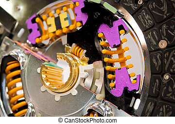 metall, skive, i, automobilen, clutch, hos, farve, detaljer