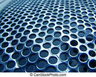 metall, struktur, blå