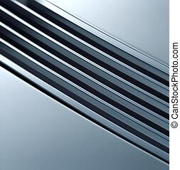 metall, struktur, lysande