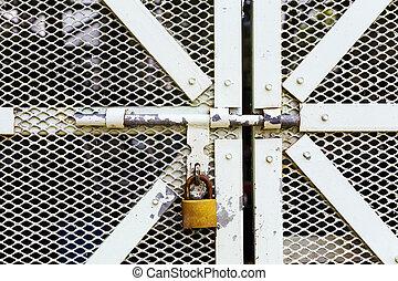 Tur Kette Zaun Schloss Metall Verbindung