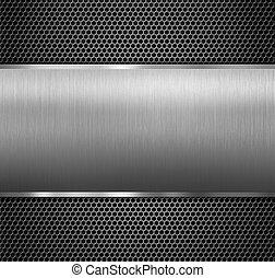 metall, tafel, aus, hexadecimal, gitter
