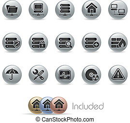 /metallic, ネットワーク, サーバー, hosting, &