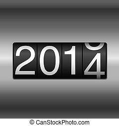 Metallic 2014 New Year Odometer