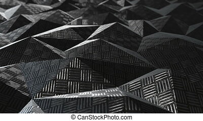 Metallic abstract geometric background loop