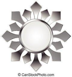 Metallic abstract logo shape