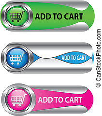 Metallic Add To Cart button/icon set