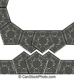metallic armor plates