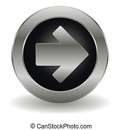 Metallic arrow button