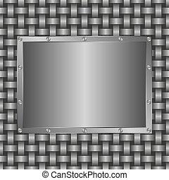 metallic  background - background with metalic panel