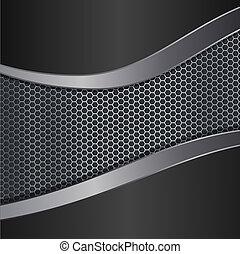metallic background editable realistic vector