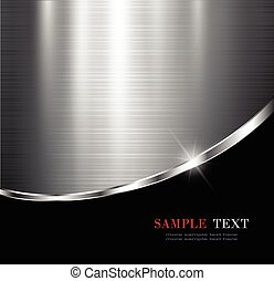 Metallic background - Elegant metallic background, vector...