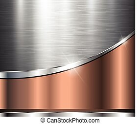 Metallic background polished steel texture, vector design.