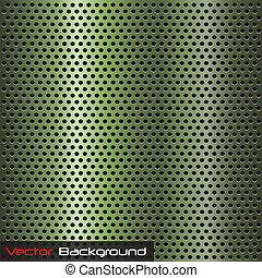 Metallic Background - Image of a green metallic background.