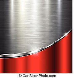 Metallic background polished steel texture