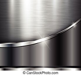 Metallic background shiny steel texture