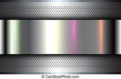 Metallic background silver chrome