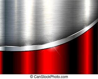 Metallic background silver