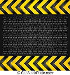 Metallic background template, perforated sheet