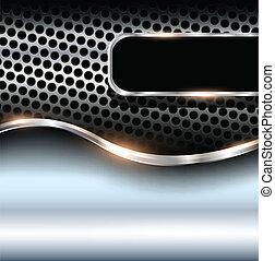 Metallic background, vector illustration.