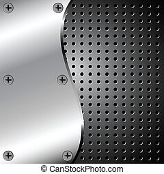 Metallic background with grid