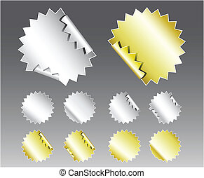 Metallic Badge Stickers