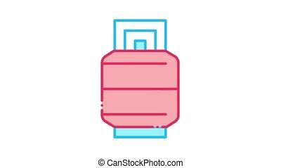 Metallic Barrel Icon Animation. color Metallic Barrel animated icon on white background