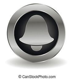 Metallic bell button
