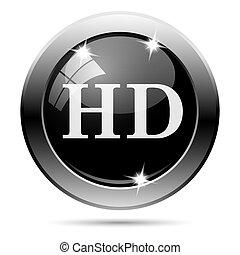Metallic black glossy icon