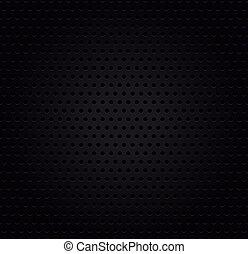 Metallic black perforated background