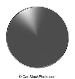 metallic blank icon button round symbol