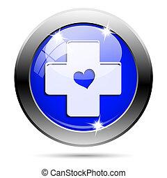 Metallic blue glossy icon