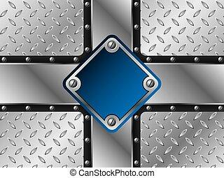 Metallic blue plate