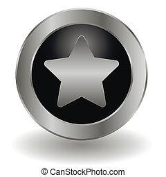 Metallic bookmark button