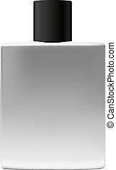 Metallic Bottle With Black Cap For Perfume