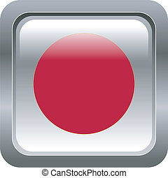 metallic button in colors of Japan