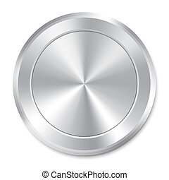 Metallic button template. Round sticker. Icon.