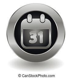 Metallic calendar button